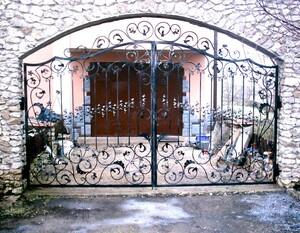 Ковані ворота, брами, модель, КВ-34