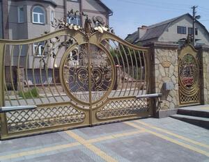 Ковані ворота, брами, модель, КВ-41