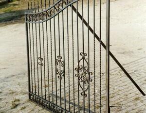 Ковані ворота, брами, модель, КВ-20