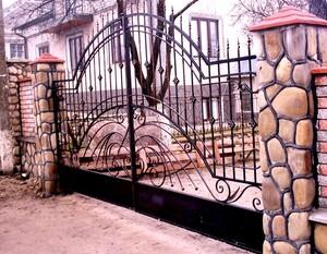 Ковані ворота, брами, модель, КВ-33