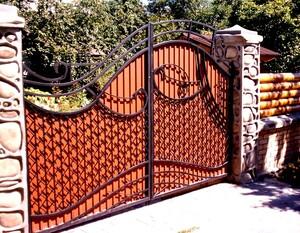 Ковані ворота, брами, модель, КВ-9