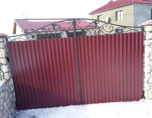 Ковані ворота, брами, модель, КВ-43