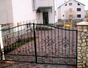 Ковані ворота, брами, модель, КВ-19