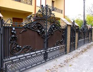 Ковані ворота, брами, модель, КВ-4
