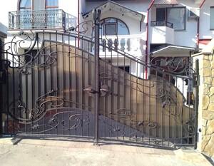 Ковані ворота, брами, модель, КВ-24