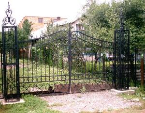 Ковані ворота, брами, модель, КВ-35