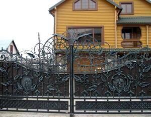 Кованые ворота, откатные ворота
