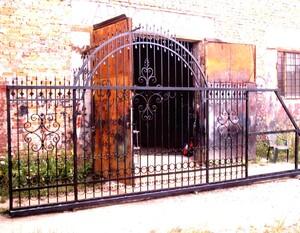 Ковані ворота, брами, модель, КВ-37
