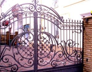 Ковані ворота, брами, модель, КВ-22