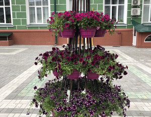 Кованные цветочницы