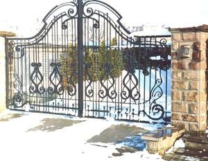 Ковані ворота, брами, модель, КВ-25