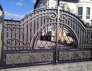 Ковані ворота, брами, модель, КВ-14