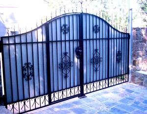 Ковані ворота, брами, модель, КВ-17