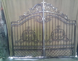 Ковані ворота, брами, модель, КВ-44