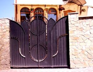 Ковані ворота, брами, модель, КВ-16
