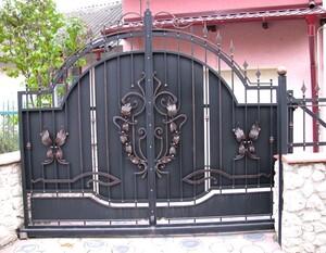 Ковані ворота, брами, модель, КВ-12
