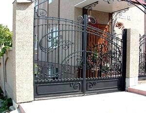Ковані ворота, брами, модель, КВ-28