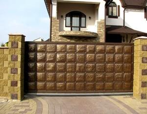 Ковані ворота, брами, модель, КВ-7