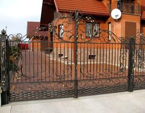 Ковані ворота, брами, модель, КВ-3
