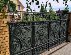 Ковані ворота, брами, модель, КВ-45